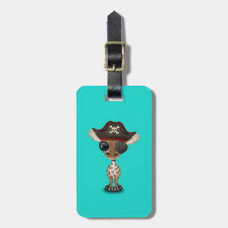 Cute Baby Giraffe Pirate Bag Tag