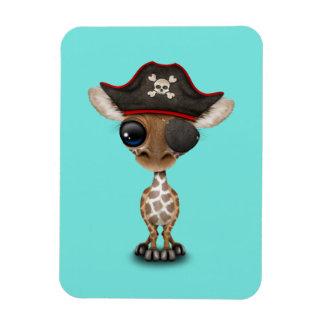 Cute Baby Giraffe Pirate Magnet