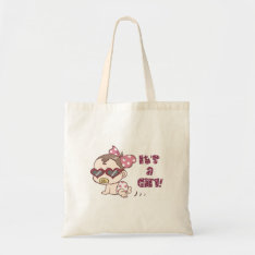 Cute Baby Girl Baby Shower Tote Bag at Zazzle