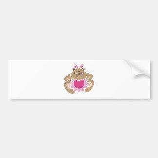 cute baby girl bear bumper stickers