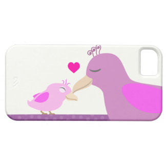 Cute Baby Girl Bird & Mother iPhone 5 Case