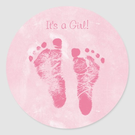 Custom Baby announce Sticker Templates – Baby Girl Birth Announcement Template