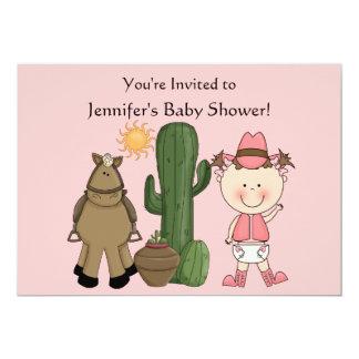 Cute Baby Girl & Horse Pony Custom Western Card