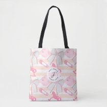 Cute Baby Girl Monogrammed Pattern Tote Bag