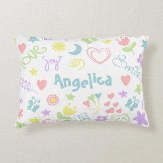"Cute Baby Girl Nursery Accent Pillow 16"" x 12"""