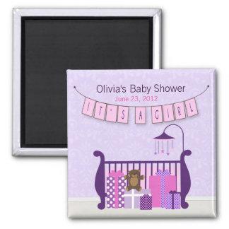 Cute Baby Girl Nursery Magnet