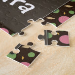 Cute Baby Girl Owl, Pink/Green/Brown Puzzle
