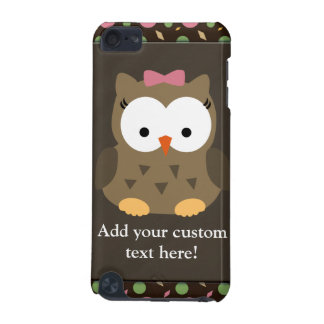 Cute Baby Girl Owl with Pink Bow iPod Touch 5G Cover