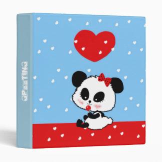 Cute Baby Girl Panda kawaii 3 Ring Binder
