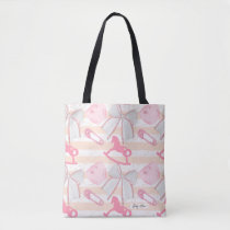 Cute Baby Girl Pattern Tote Bag