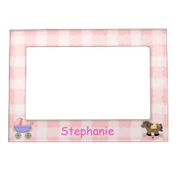 Cute Baby Girl Picture Frame Magnet