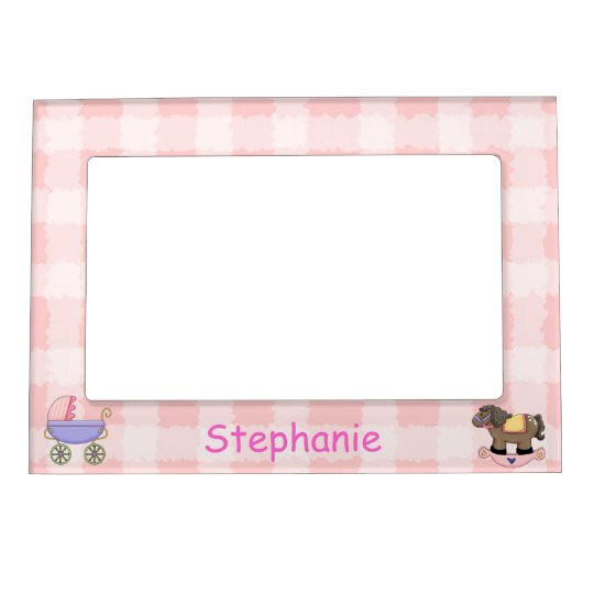 Cute Baby Girl Picture Frame Magnet | Zazzle.com