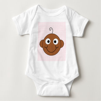 Cute Baby Girl. Pink Check Background. Baby Bodysuit
