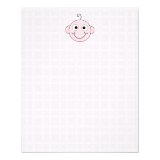 Cute Baby Girl. Pink Check Background. Flyer