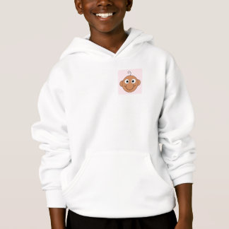 Cute Baby Girl. Pink Check Background. Hoodie