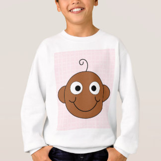 Cute Baby Girl. Pink Check Background. Sweatshirt