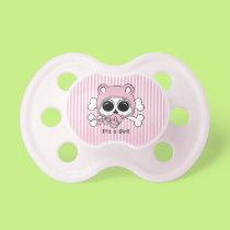 Cute Baby Girl Skull Pacifier