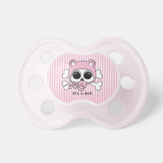 Cute Baby Girl Skull Pacifier
