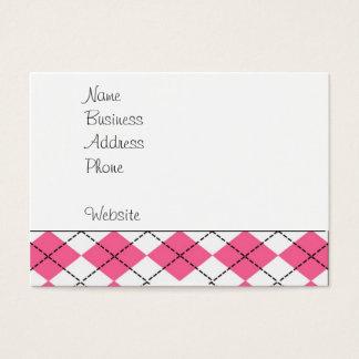 Cute Baby Girl Sock Monkey Pink Black Argyle Business Card
