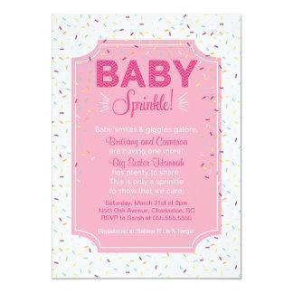 Cute Baby Girl Sprinkle Invitation