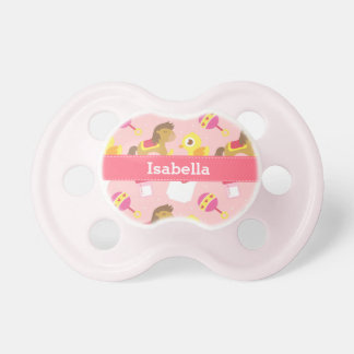 Cute Baby Girl Sweet Pink Toys Pattern Pacifier