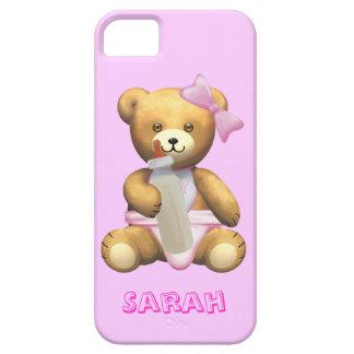 Cute Baby Girl Teddy Bear - Change name - Sarah iPhone 5 Covers