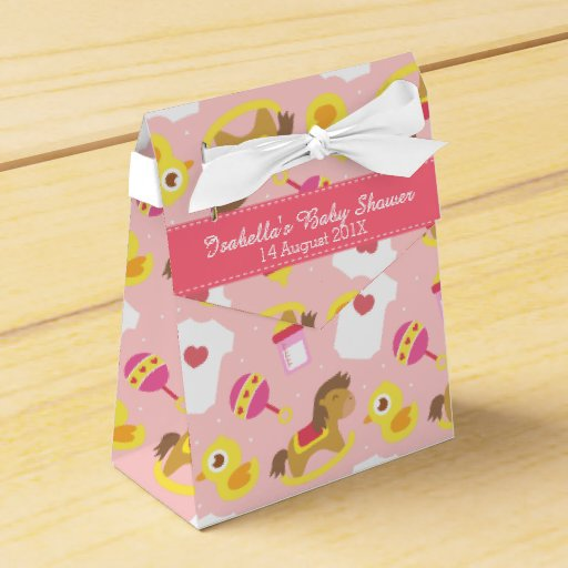 Baby girl favor boxes uk : Cute baby girl toys shower party favor box zazzle
