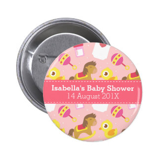 Cute Baby Girl Toys Baby Shower Party Favor Buttons