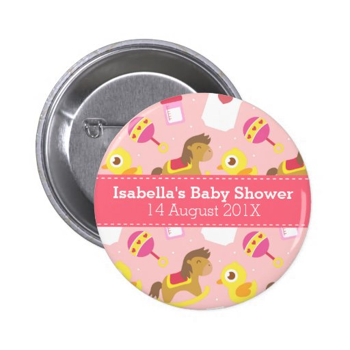 Cute Baby Girl Toys, Baby Shower Party Favor Buttons