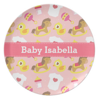 Cute Baby Girl Toys Pattern For Toddlers Plate
