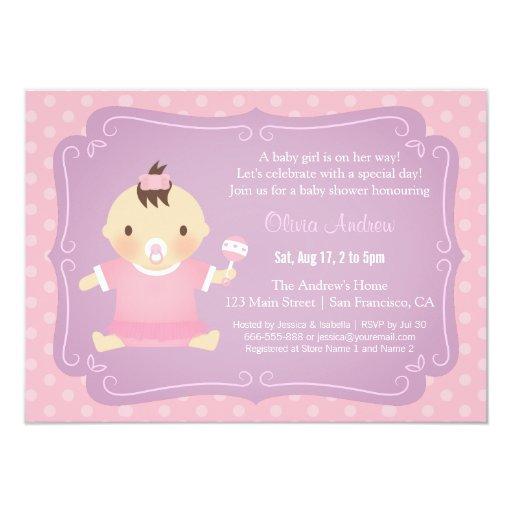 cute baby girl tutu baby shower invitations zazzle