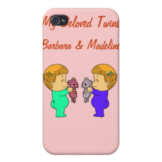 Cute baby Girl twins Cover For iPhone 4