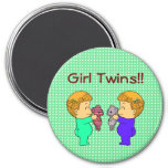 Cute baby Girl twins Fridge Magnet