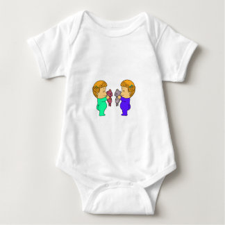 Cute baby Girl twins Infant Creeper