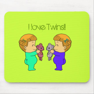 Cute baby Girl twins Mouse Pad