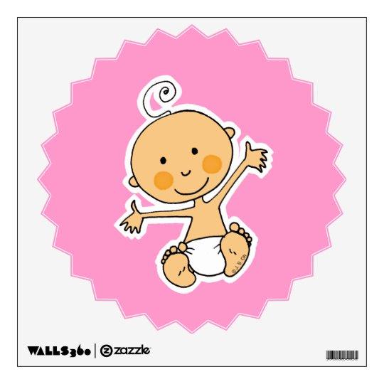 cute baby girl wall sticker