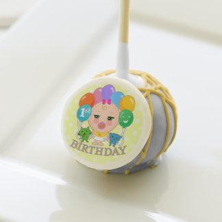 Cute Baby Girl's First Birthday Cake Pop Cake Pops