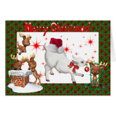 Cute Baby Goat Christmas Card