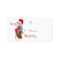 Cute Baby Goat in Stocking Christmas Gift Tag
