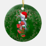 Cute Baby Goat in Stocking Christmas Ornament