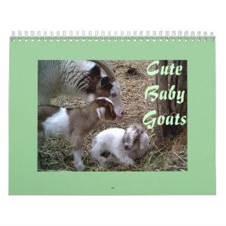 Cute Baby Goats Calendar