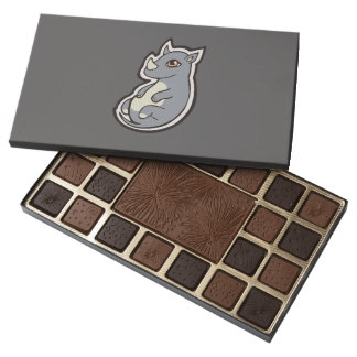 Cute Baby Gray Rhino Big Eyes Ink Drawing Design 45 Piece Box Of Chocolates