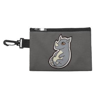 Cute Baby Gray Rhino Big Eyes Ink Drawing Design Accessories Bags