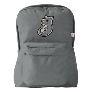 Cute Baby Gray Rhino Big Eyes Ink Drawing Design American Apparel™ Backpack