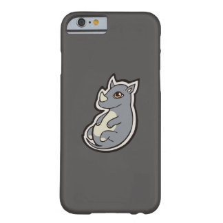 Cute Baby Gray Rhino Big Eyes Ink Drawing Design Barely There iPhone 6 Case