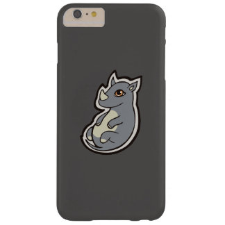 Cute Baby Gray Rhino Big Eyes Ink Drawing Design Barely There iPhone 6 Plus Case