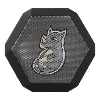 Cute Baby Gray Rhino Big Eyes Ink Drawing Design Black Bluetooth Speaker