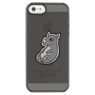 Cute Baby Gray Rhino Big Eyes Ink Drawing Design Clear iPhone SE/5/5s Case