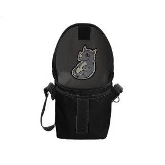 Cute Baby Gray Rhino Big Eyes Ink Drawing Design Courier Bag