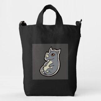 Cute Baby Gray Rhino Big Eyes Ink Drawing Design Duck Bag